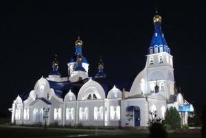 Подсветка Храма в честь Тихвинской иконы Божией Матери